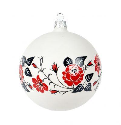 Расписной елочный шар в украинском стиле