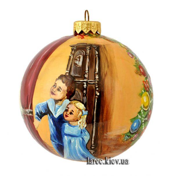 Расписной елочный шар с изображением Святого Николая