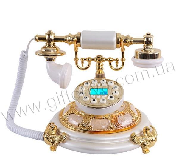 Ретро-телефон белый