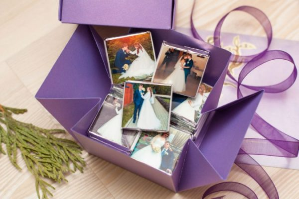 Шоколад со свадебными фото