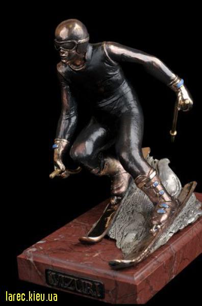 Статуэтка бронзовая «Горнолыжник»