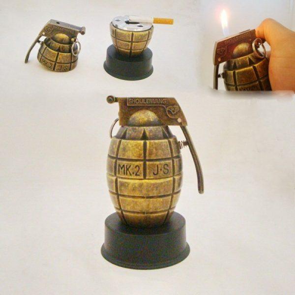 Зажигалка «Граната» в стиле military с пепельницей
