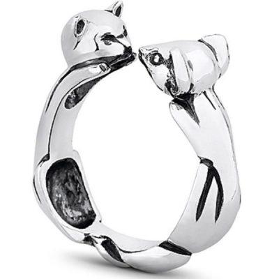 Кольцо «Кошки-Мышки» из серебра