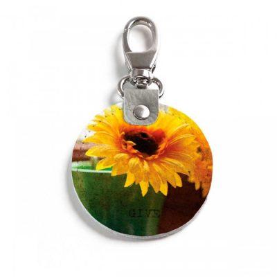 Круглый брелок с карабином Sunflower