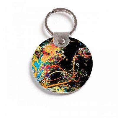 Круглый брелок с кольцом Burst of Color