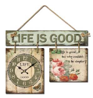Настенные часы Life is good