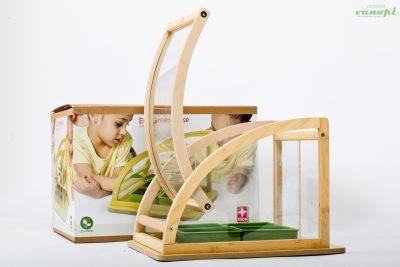 Настоящая бамбуковая игрушка-миниоранжерея «ECO Greenhouse»