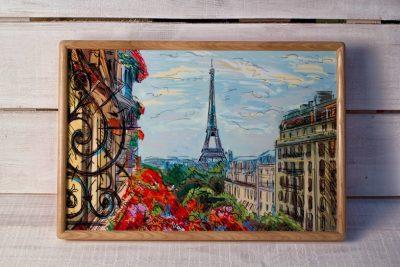 Поднос на подушке «Париж»