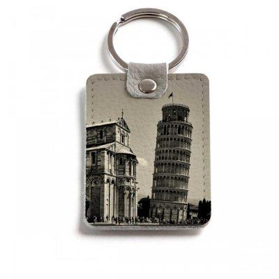 Прямоугольный брелок с кольцом «Пизанская башня 2»