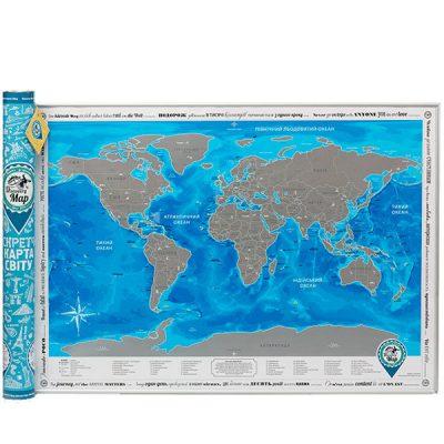 Скретч-карта мира на украинском Discovery Map
