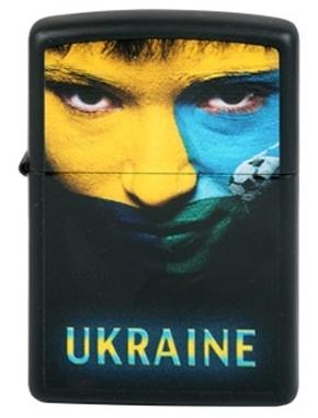 Зажигалка Zippo «Ukraine Soccer Face Color»