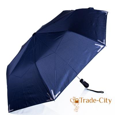 Зонт мужской полуавтомат Fare с фонариком и светоотражающими вставками