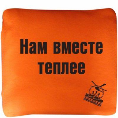 Автомобильный плед-подушка «Нам вместе теплее»