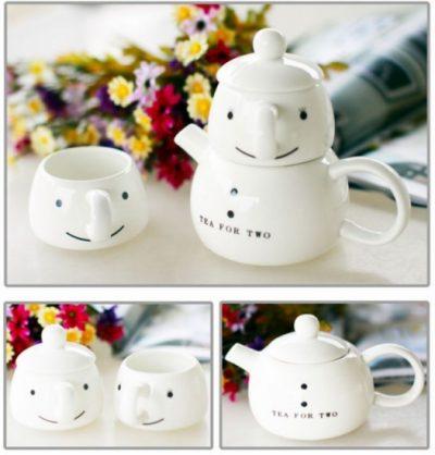 Чайный набор для двоих «Снеговик»