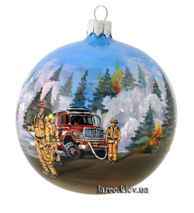 Эксклюзивный елочный шар «Пожарные»