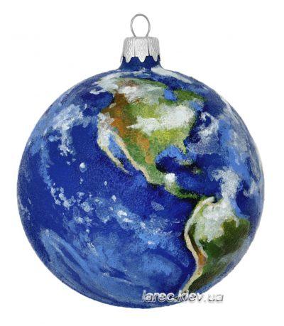 Елочная игрушка «Земной шар»