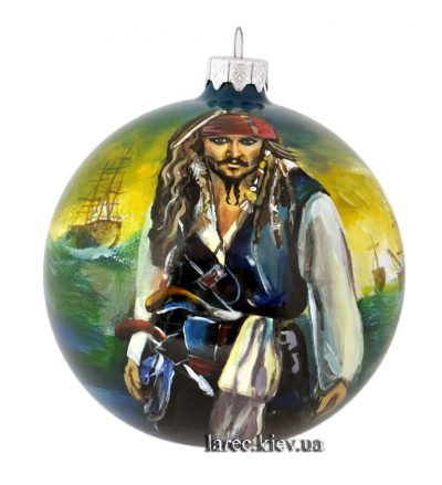 Елочный шар «Капитан Джек Воробей»