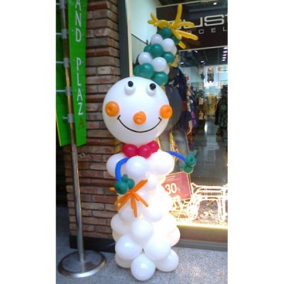 Фигура из шариков «Снеговик»