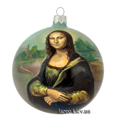 Коллекционный елочный шар «Мона Лиза дель Джоконда»