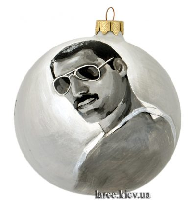 Коллекционный елочный шар с портретом Фредди Меркьюри