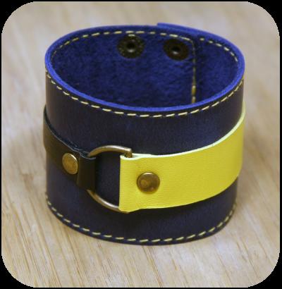 Кожаный браслет «Ночное небо»