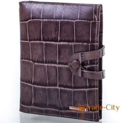 Мужской кожаный бумажник с отделением для паспорта VERITY