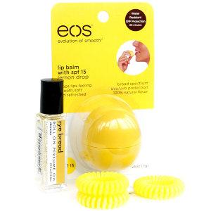 Набор: бальзам EOS, резинка Invisibobble, роллербол Demeter