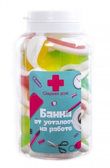 Набор желейных конфет «Банка от усталости на работе»