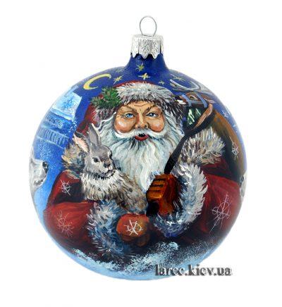 Расписной елочный шар «Дед Мороз»