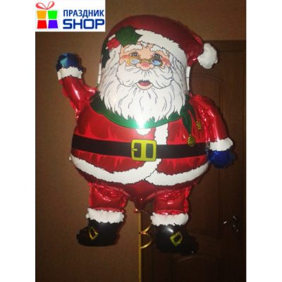 Шар «Дед мороз» 60/45 см.