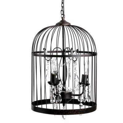 Светильник в винтажном стиле «Птичья клетка»