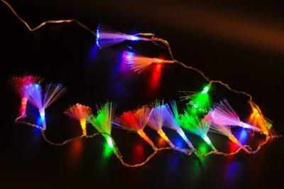 Светодиодная гирлянда с пушистыми кистями, 100 LED
