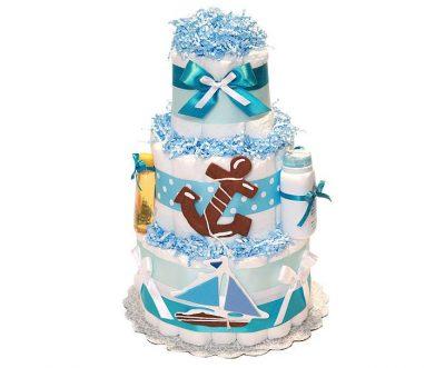 Торт из памперсов «Морской»