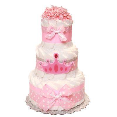 Торт из памперсов «Принцесса»