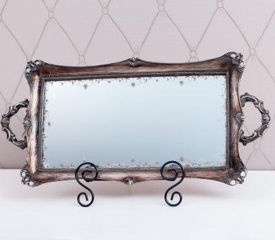 Винтажное зеркало-поднос
