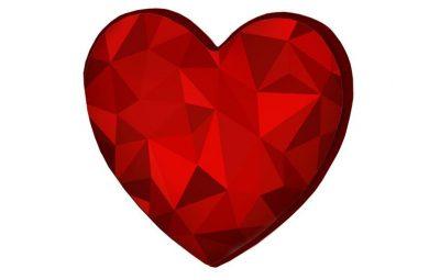 Подушка-сердце «Алый рубин»