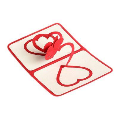 Объемная открытка «Переплетение сердец»