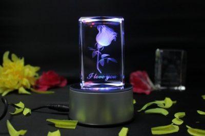 Светильник-ночник «Роза в стекле»