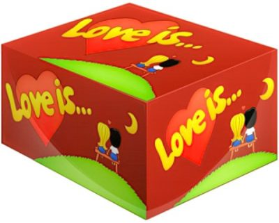 Блок жевательных резинок Love is (вишня-лимон)