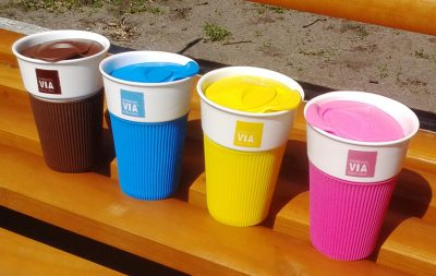 Чашка Starbucks со съёмным чехлом разных цветов
