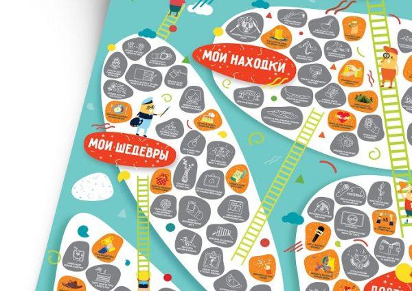 Мотивационный скретч-постер «100 Больших Дел Junior Edition»
