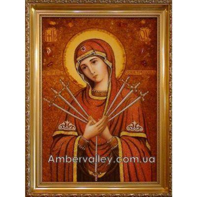 Икона из янтаря «Семистрельная»