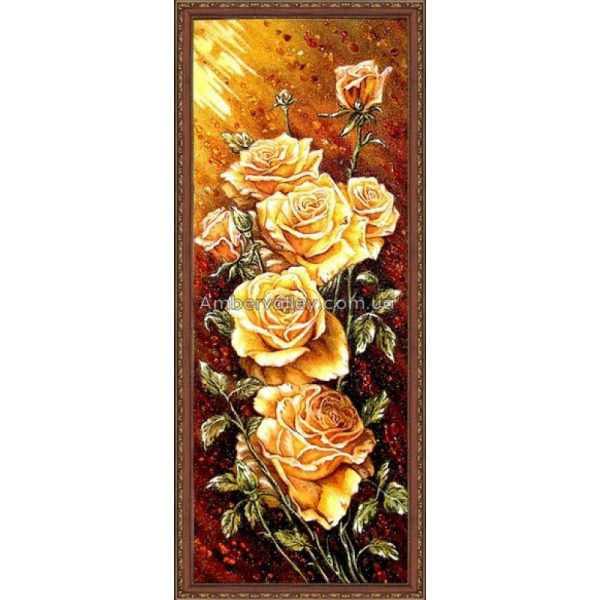Картина из янтаря «Розы»