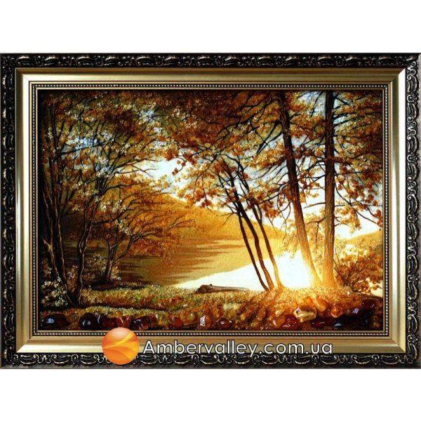 Картина из янтаря «Восход солнца»