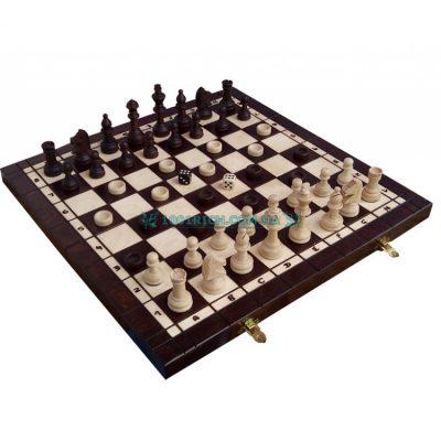 Комплект шахматы + шашки + нарды (Madon)