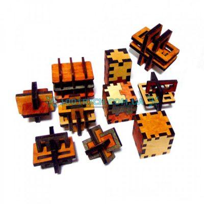 Набор из 10 деревянных 3D-головоломок