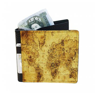 Небольшой кошелек из натуральной кожи «Карта»