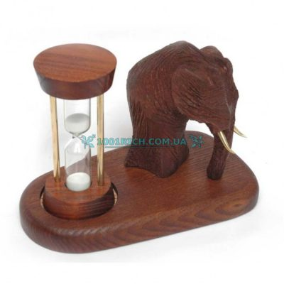 Песочные часы со скульптурой «Мамонт»