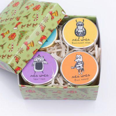 Сладкий набор из мини-баночек «Мёд-шмёд»