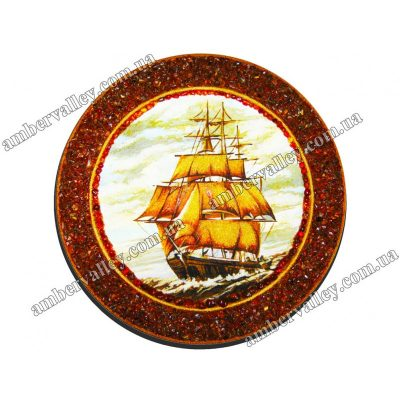Тарелка из янтаря «На волне»